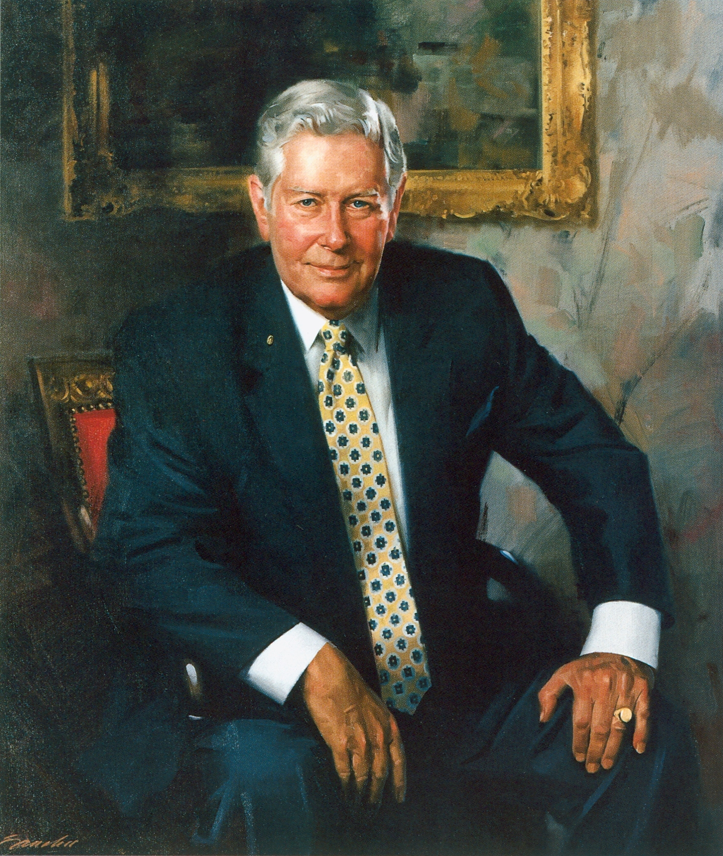 Portrait of Lewis R. Holding, retired Chairman and CEO
