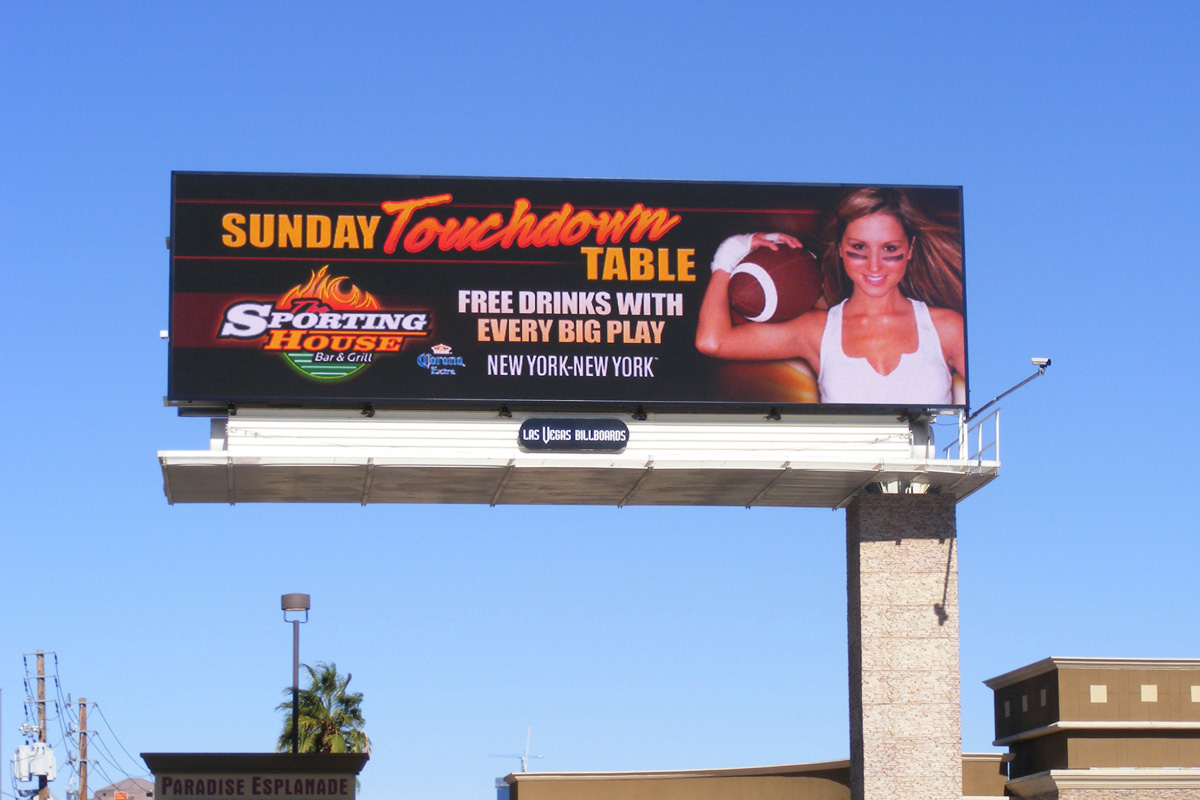 Las Vegas Billboard's Daktronics-Manufactured Digital Billboard