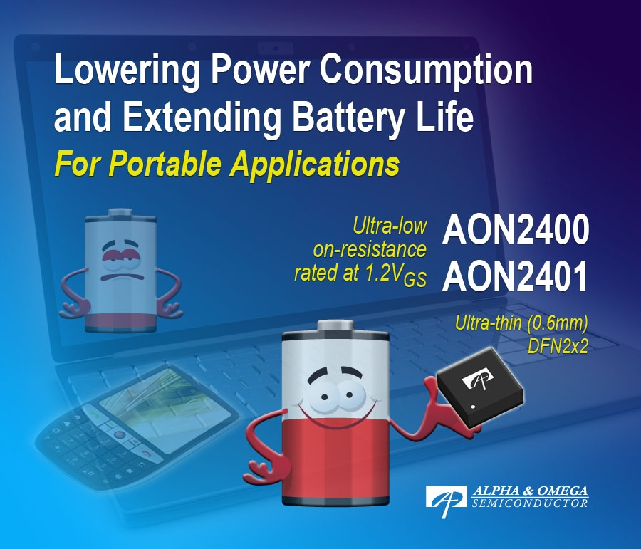 Alpha and Omega Semiconductor 8V Power MOSFETs