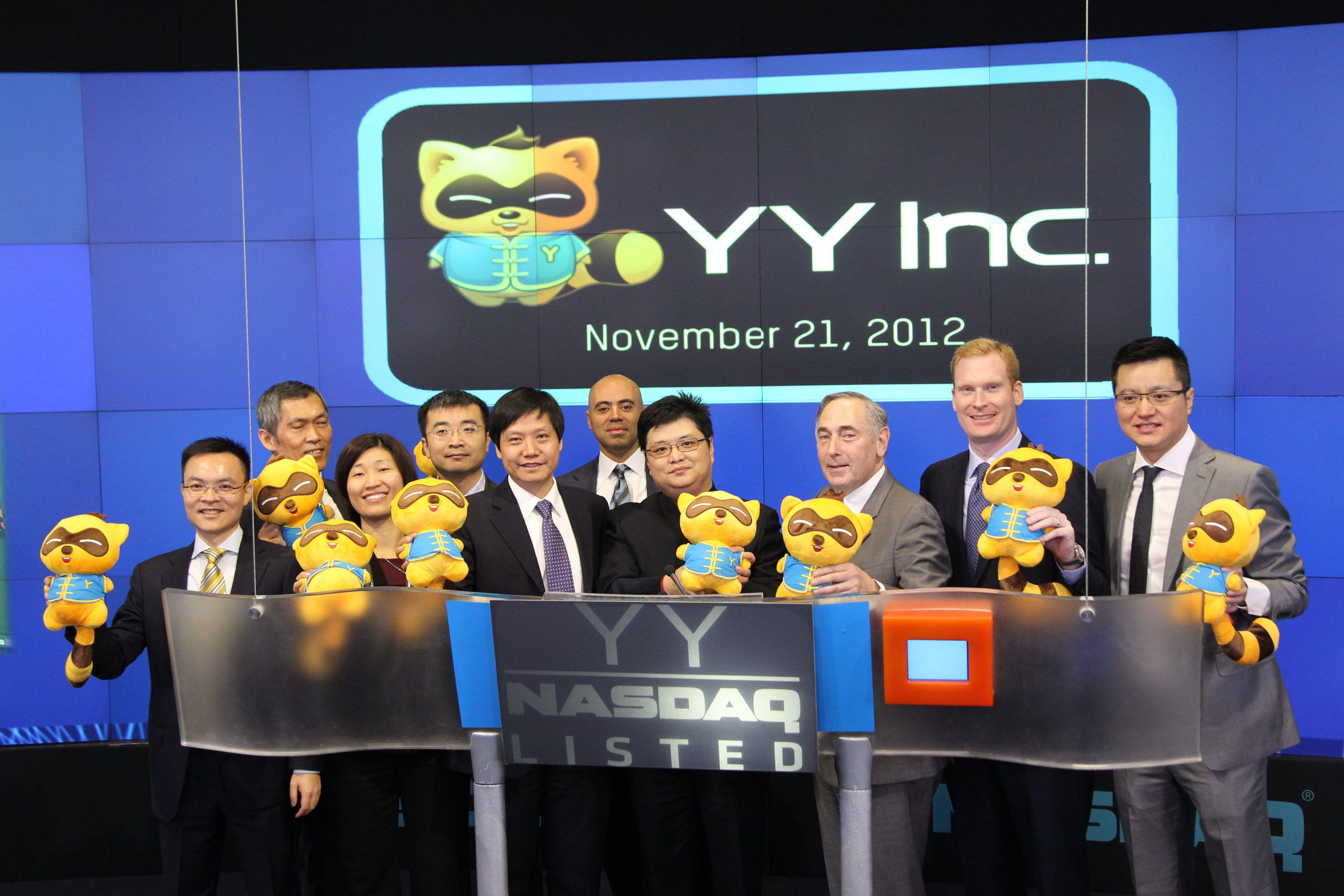YY Inc. rings The NASDAQ Stock Market Opening Bell
