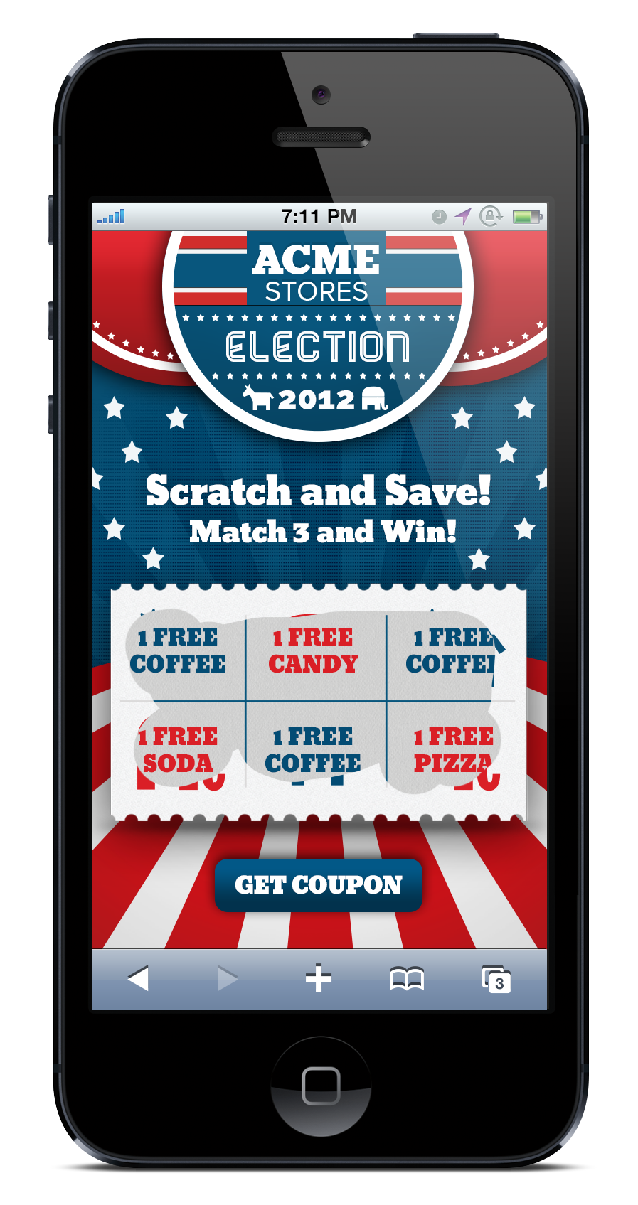 Scratch-Off Mobile Coupon Game