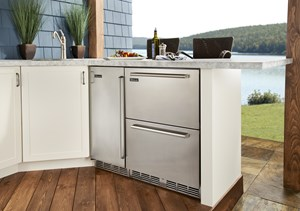 Perlick Launches The First 24 Dual Zone Undercounter Refrigerator And Freezer Drawer Unit Ul Rated For Outdoor Use