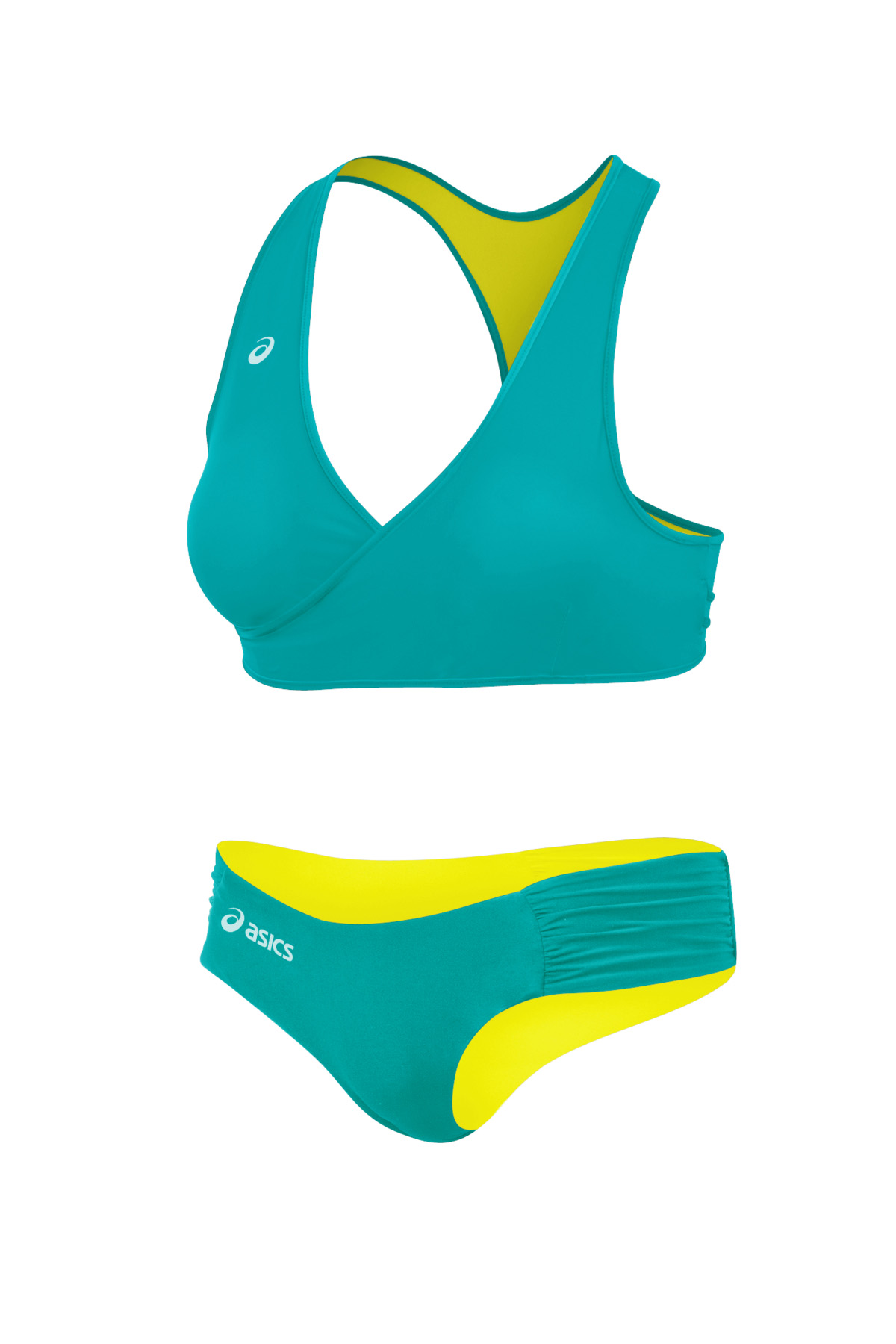 asics swimwear Green