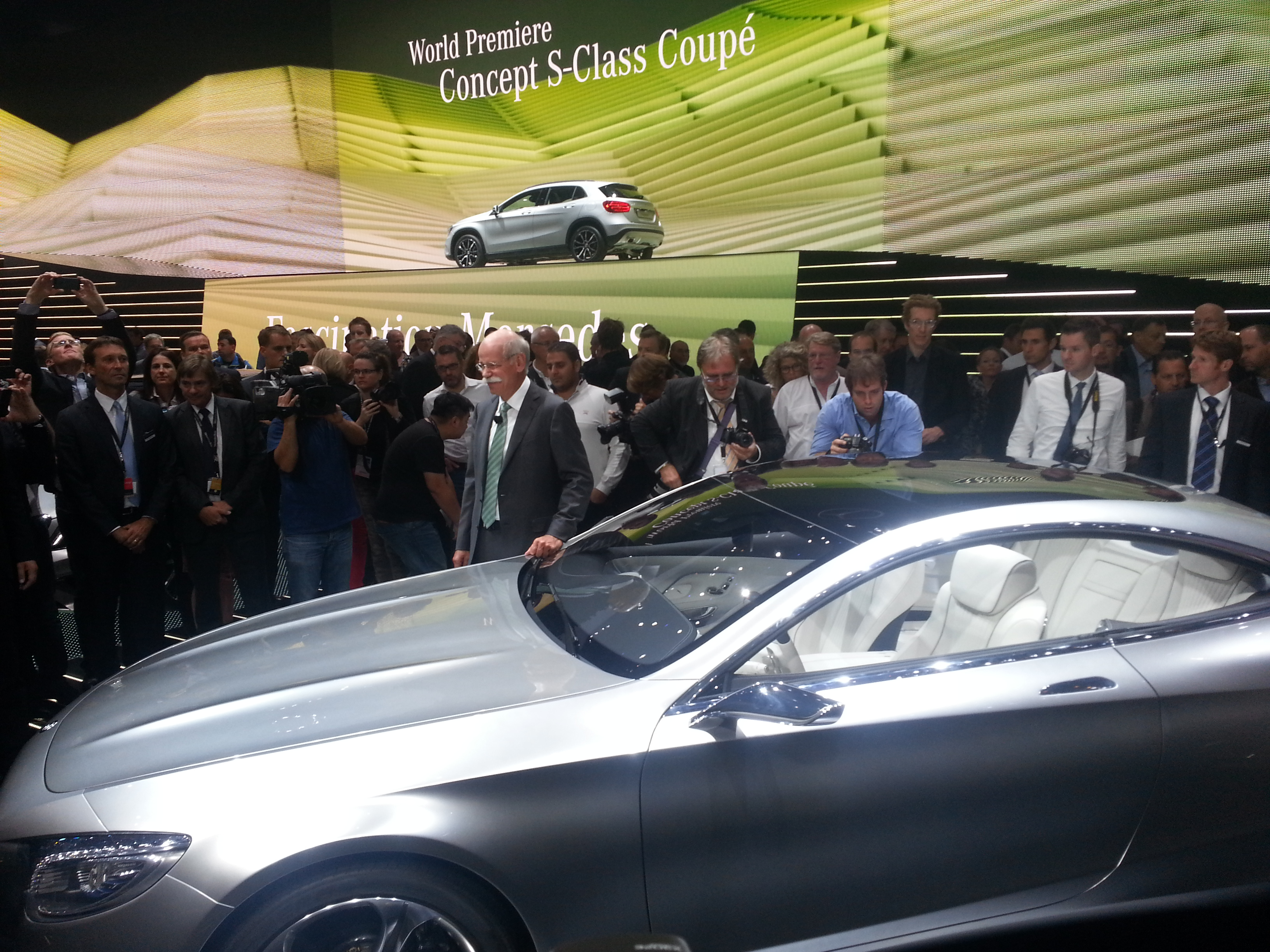 Mercedes-Benz Chairman Dieter Zetsche with S-Class Coupe Concept