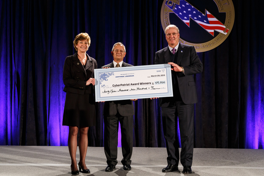 Northrop Grumman Presents Scholarship Check