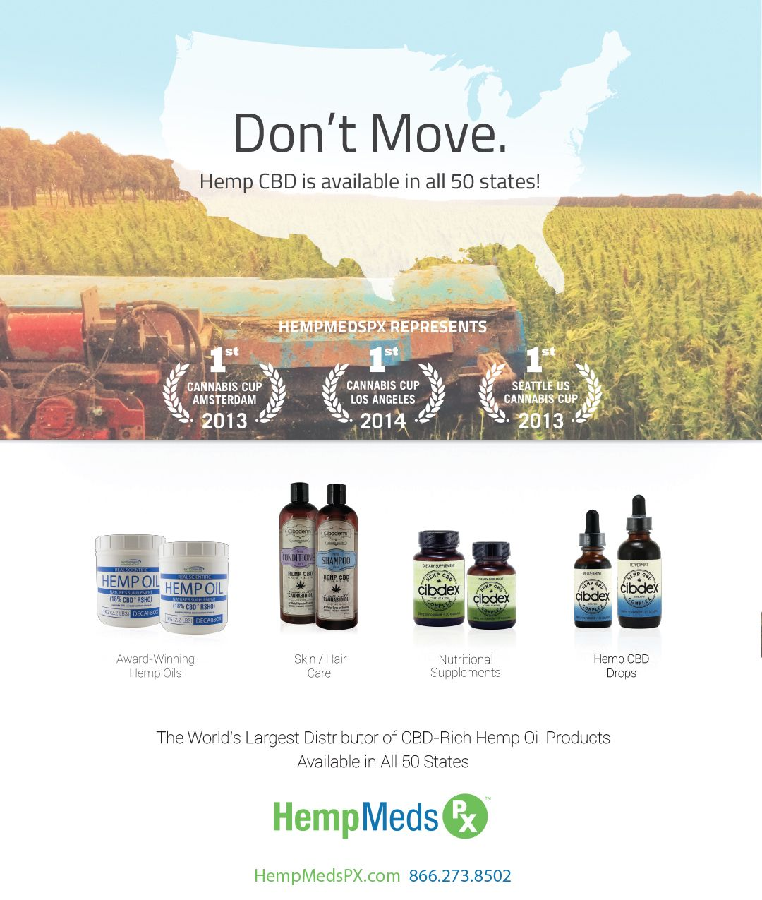 Medical Marijuana Inc.'s HempMedsPX Launches DON'T MOVE Awareness Campaign