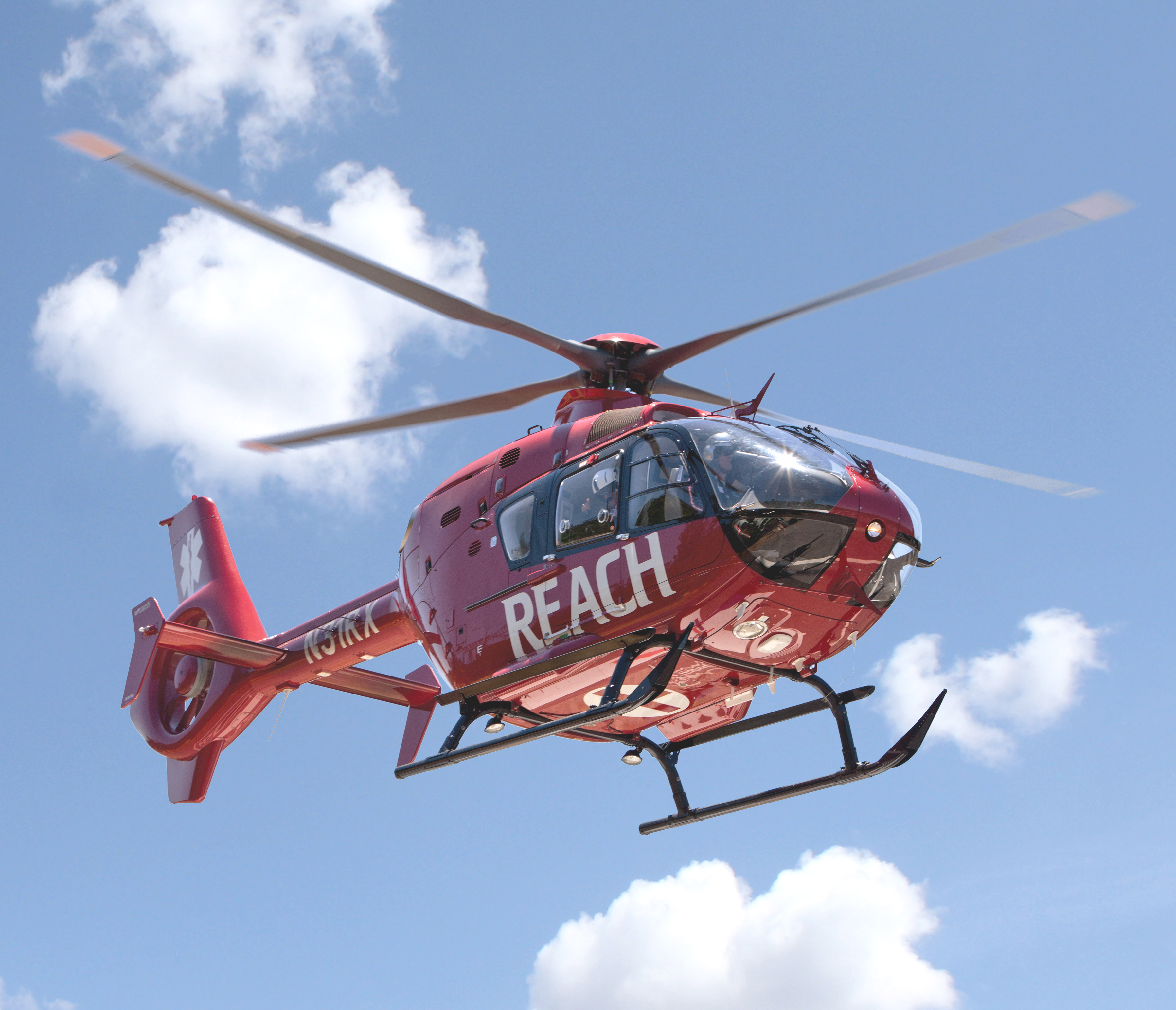 REACH's new EC135 helicopter serves customers in Northern California