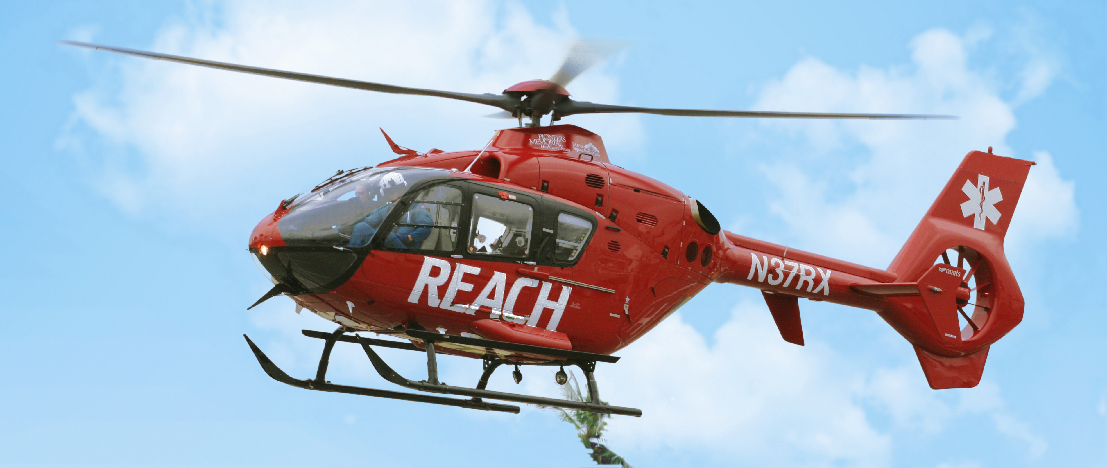 REACHs EC135 helicopter