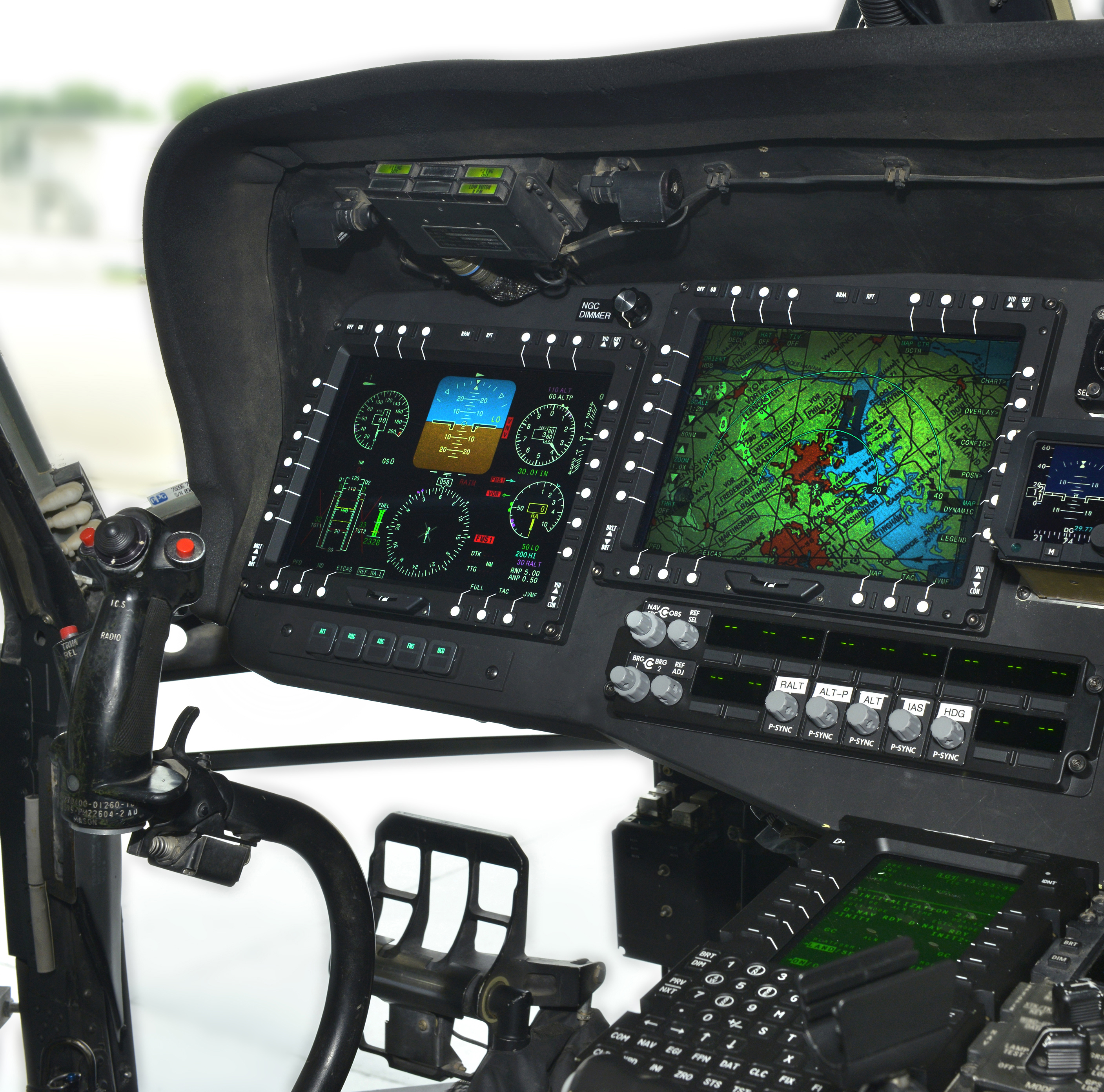 UH-60L Black Hawk cockpit