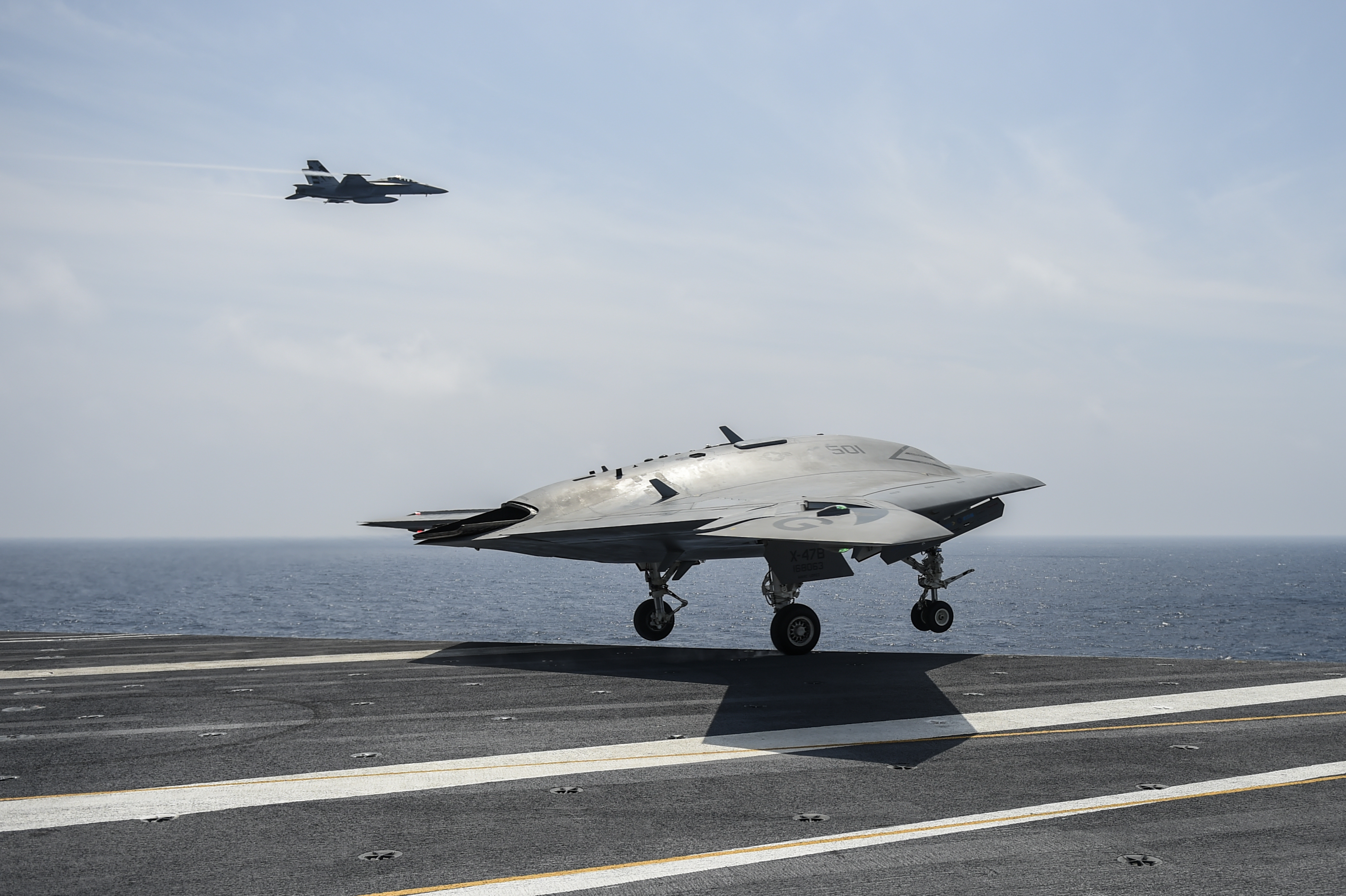 The aircraft X-47B