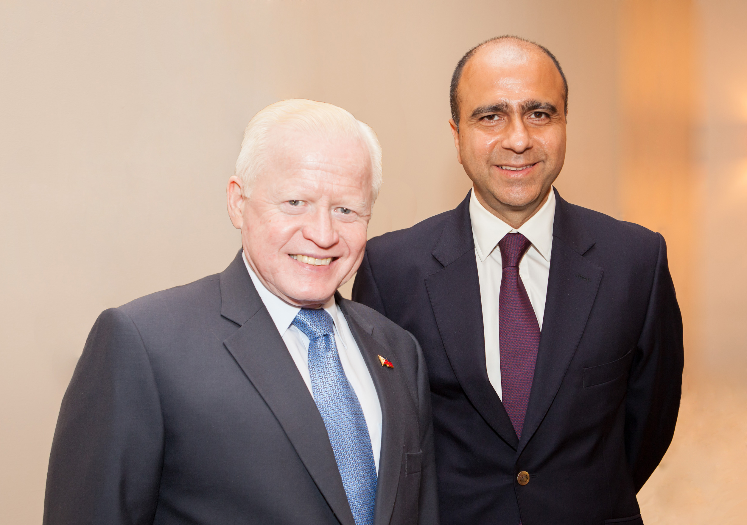 28 Aug 14 Ambassador Cuisia and TRANSFAST CEO Samish Kumar