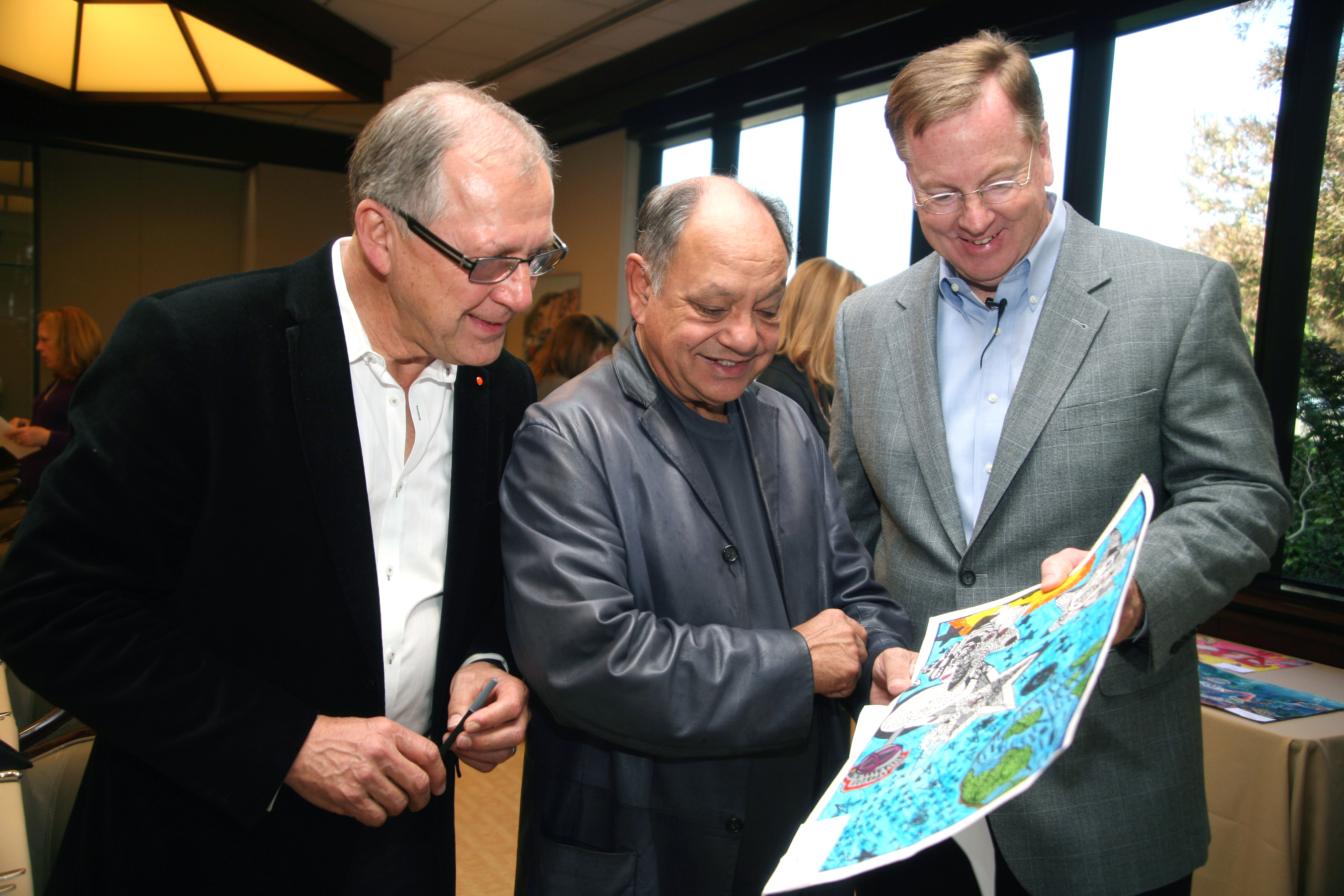 Stewart Reed, Cheech Marin and Mike Groff served as FY15 U.S. Judges for Toyota Dream Car