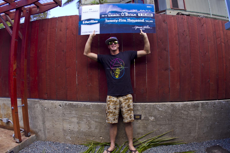 Jamie O'Brien Wins Oakley Wave of the Winter Powered By Surfline