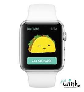Justwink by american greetings introduces card sending app with taco justwink by american greetings introduces card sending app with taco emoji for apple watch m4hsunfo