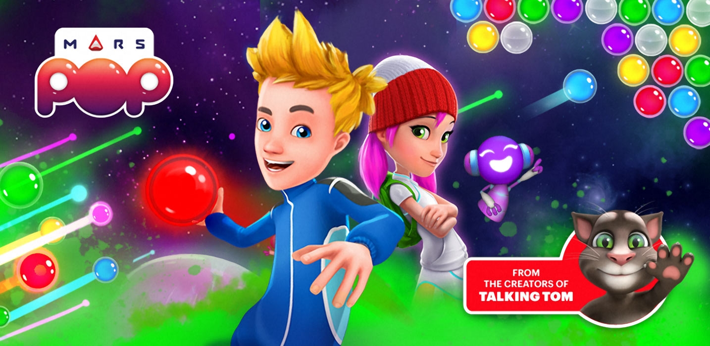 Pop Goes the World: Outfit7 Unveils 'Mars Pop', the First Bubble Shooter Game With Real-Time, Multiplayer Competition