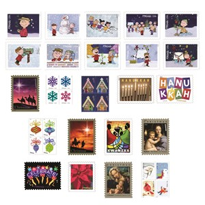 Postal Service's Holiday-Themed Stamps available at usps.com