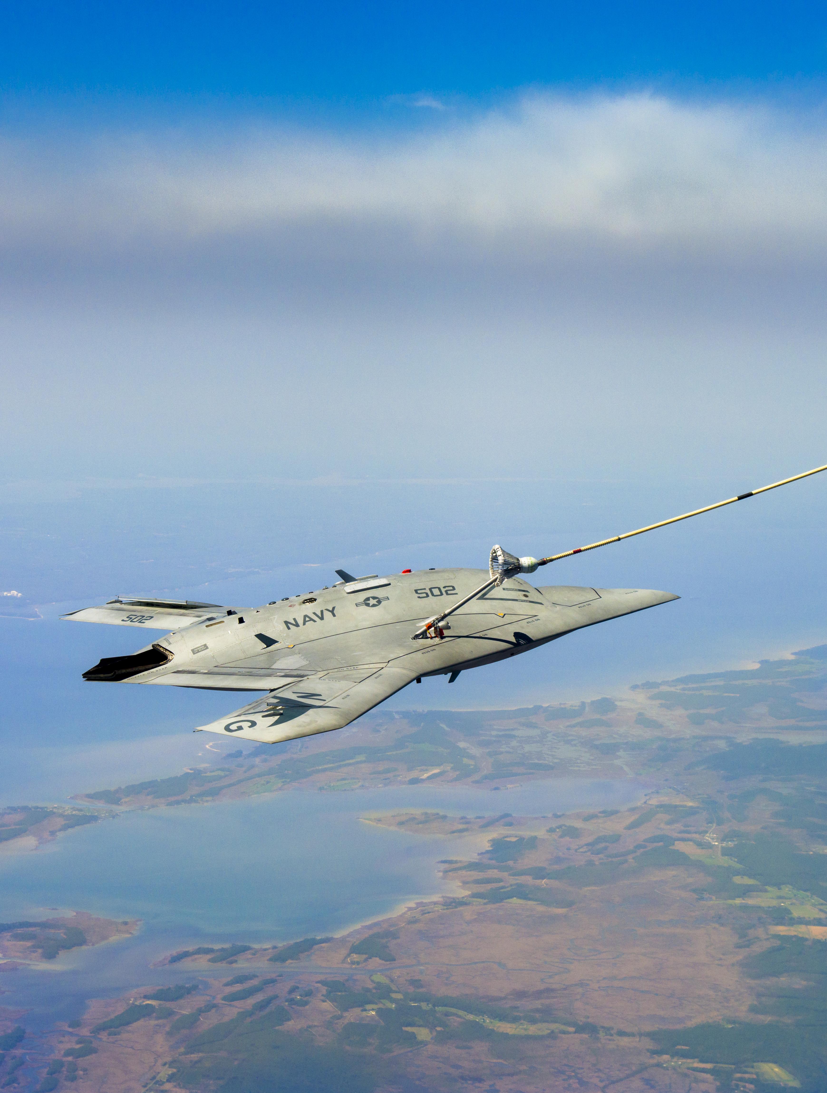 X47-B Aerial Refueling