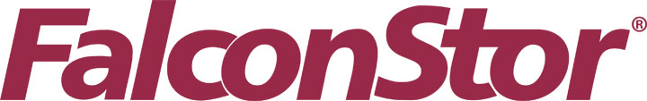 FalconStor Software Logo maroon