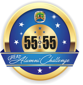 55 for 55: The Great Alumni Challenge logo